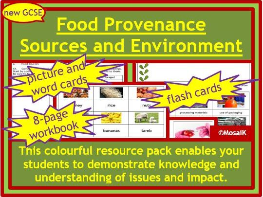 Food Technology, Geography: Food Provenance, Food Sources, Impact on the Environment