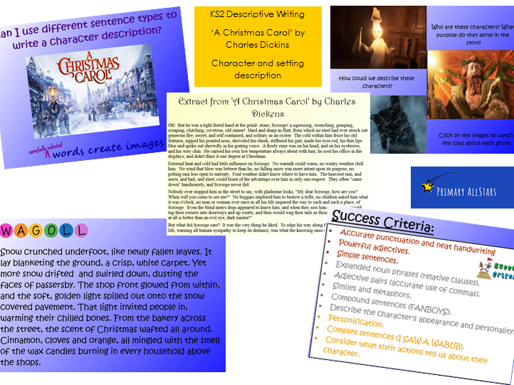 KS2 English A Christmas Carol Descriptive Writing