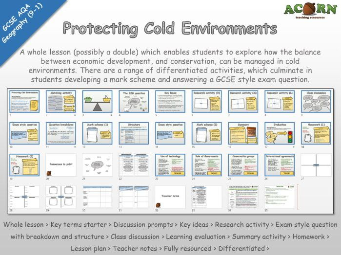 Geography - AQA 1-9 - The Living World - Protecting Cold Environments (Whole lesson)