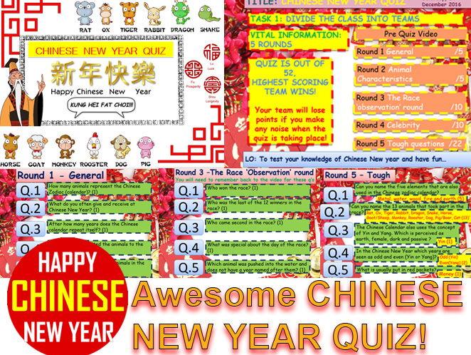 CHINESE NEW YEAR QUIZ 2016 #1