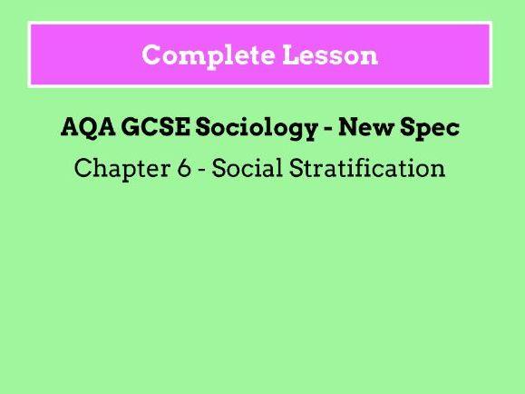 Lesson 1 & 2 - Social Stratification