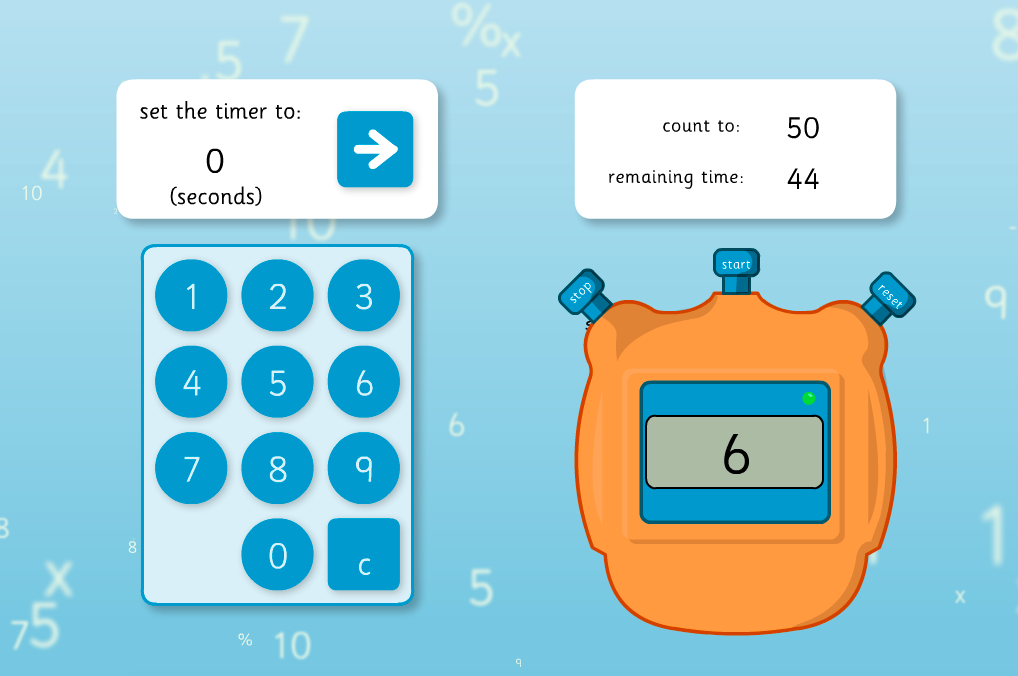 Digital Stopwatch - KS1 Measurement