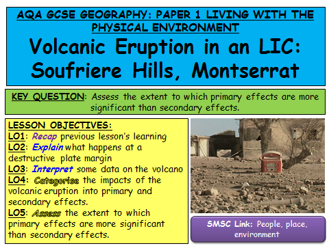 NEW SPECIFICATION AQA Geography Natural Hazards