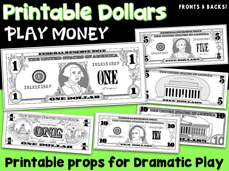 Printable Play Money By Vlrynn Teaching Resources Tes