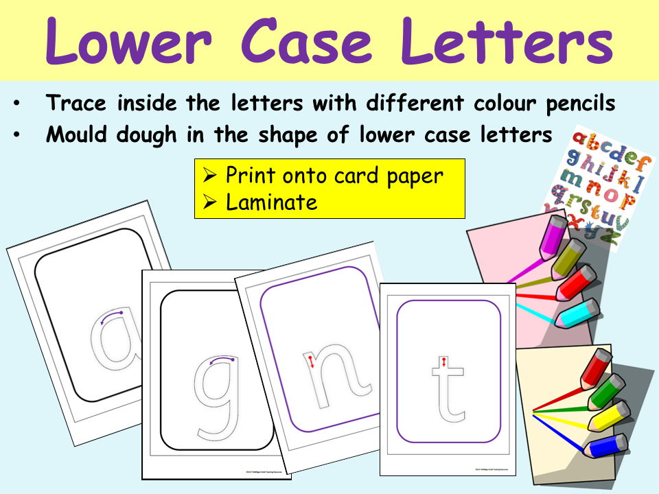 Alphabet: Lower Case Letters, Formation and Recognition