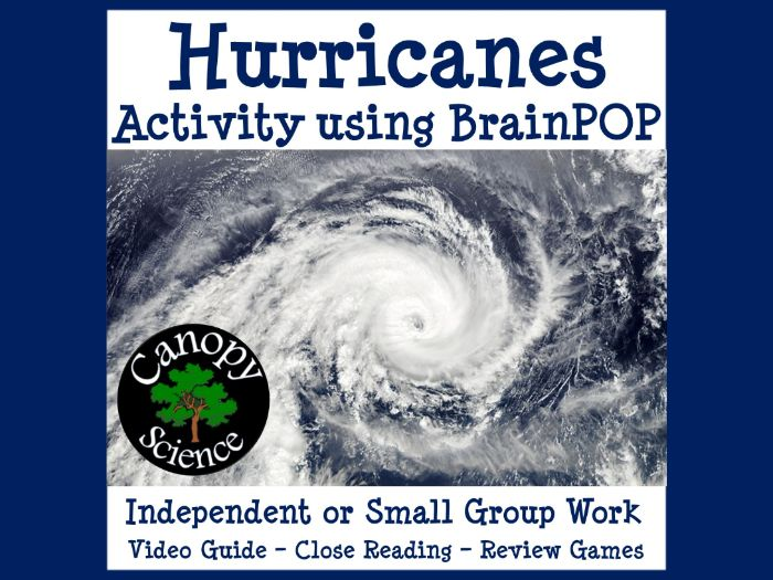 Hurricanes Activity using BrainPOP