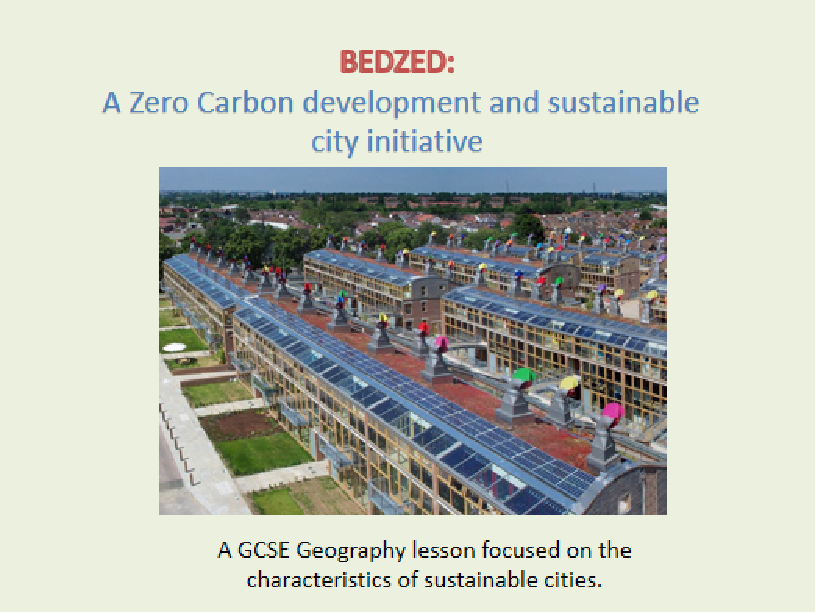 characteristics of sustainable cities: BEDZED