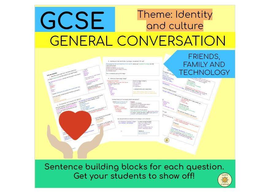 Identity and culture (friends, family, technology)  Sentence building blocks Spanish GCSE - Familia