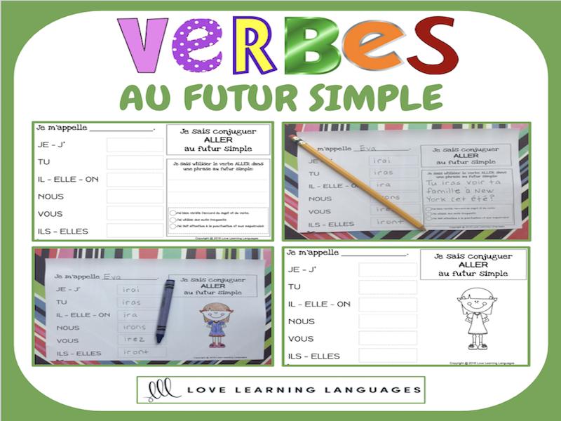 Verbes au futur simple - 60 verbes français à conjuguer - PRIMAIRE