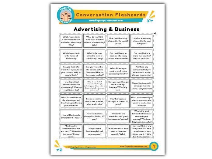 Advertising & Business - Conversation Flashcards
