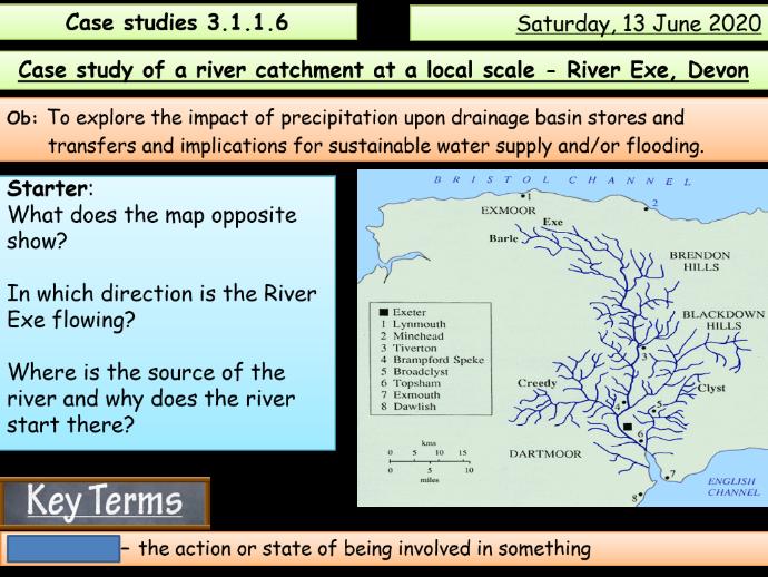 Case study - River Exe (AQA A Level)