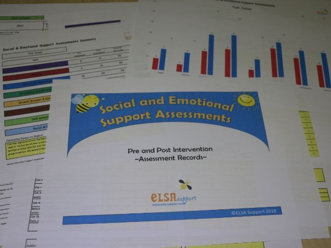 Social and Emotional Support Assessments EXCEL and paper copies (School licence)