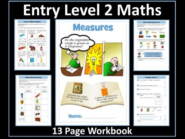 Measure - AQA Entry Level 2 Maths Workbook