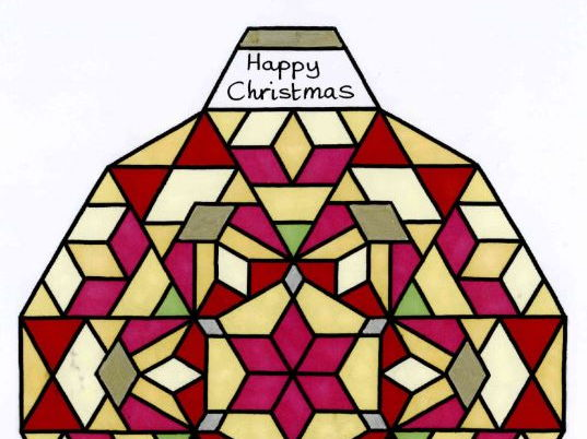 Christmas colouring multiples factors times tables symmetry