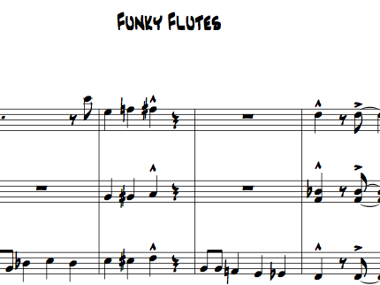Funky Flutes for Flute Choir (3 flutes plus optional alto)
