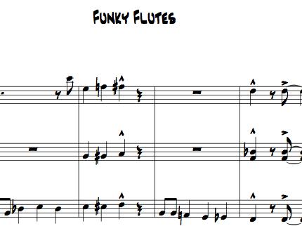 Funky Flutes for Flute Choir (3 flutes plus optional alto)