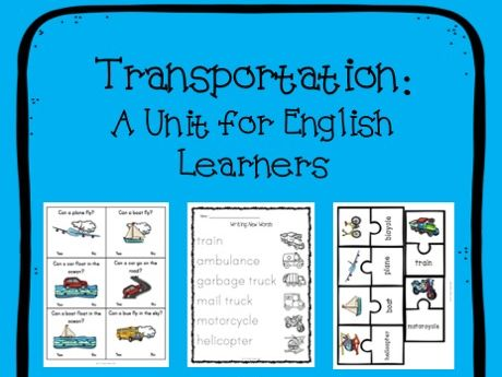 Transportation/Things that Go Thematic Unit