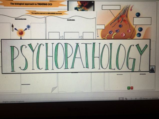 AQA Psychology - Psychopathology Worksheets (Summary)