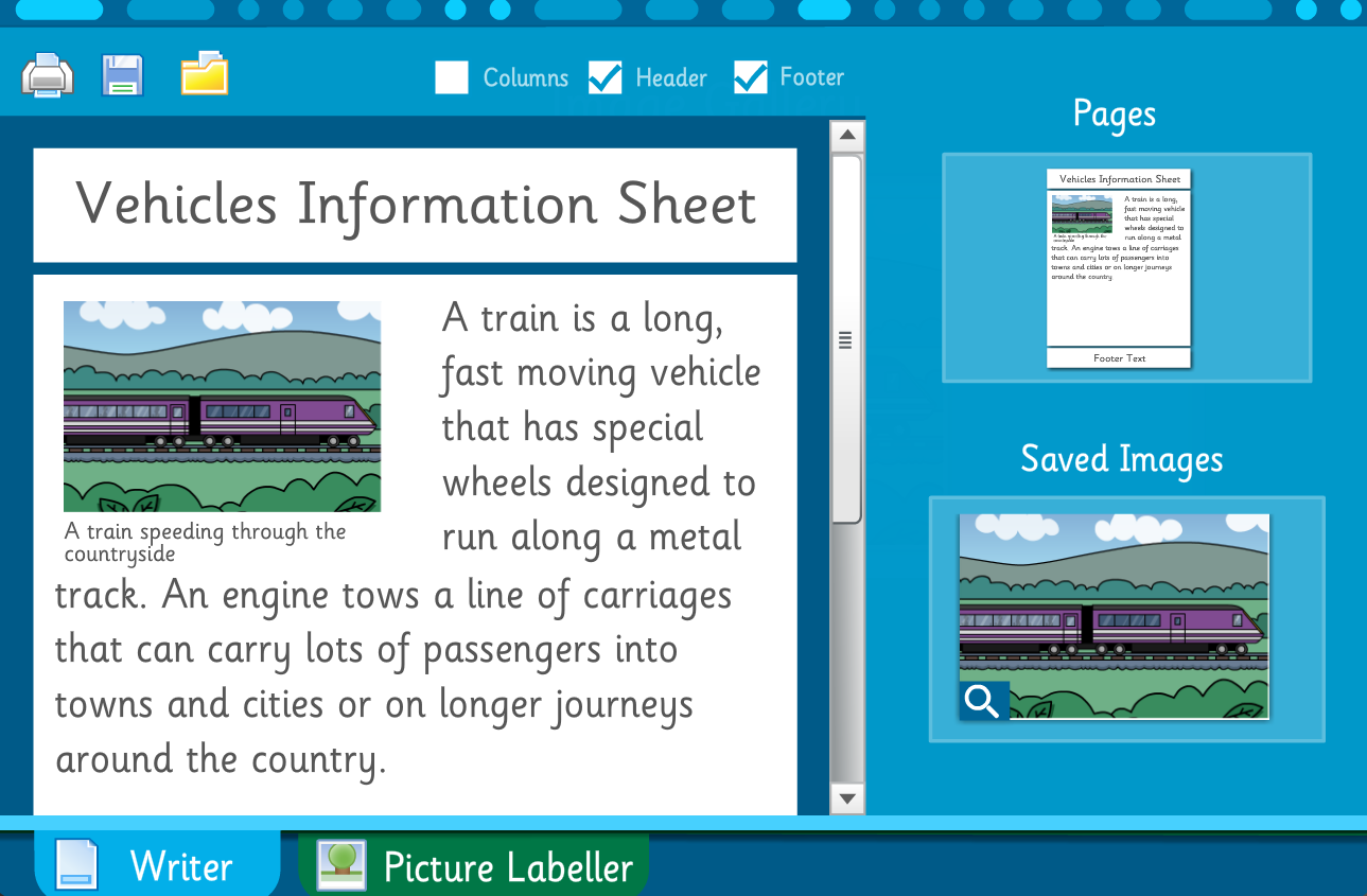 Make Your Own Information Book: Vehicles - Interactive Activity - KS2 Literacy