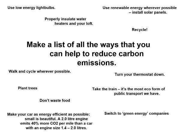 Geography - How do we reduce greenhous emissions. Current global wamring protocol information.