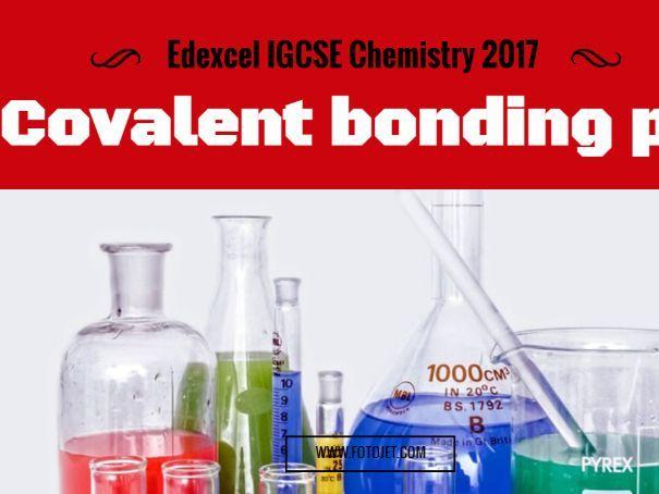 Edexcel IGCSE Chemistry 2017 Covalent bonding 1