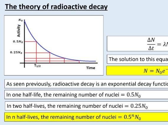 A level Physics (26.6)  The theory of radioactive decay  (Radioactivity)