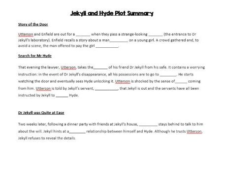 Jekyll and Hyde plot gap-fill