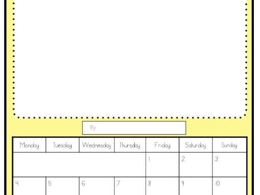 2020-21 Calendar - blank (English)