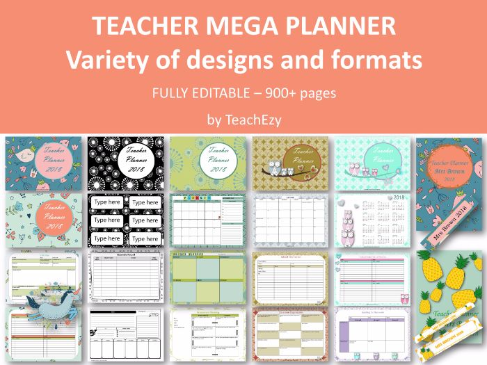 2018 Mega Teacher Planner