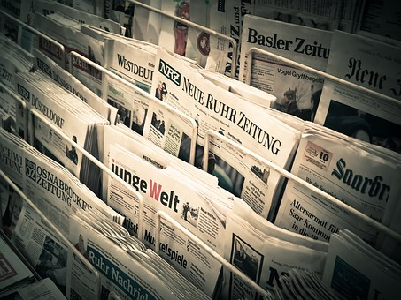 Tabloid and broadsheet newspaper templates for student articles