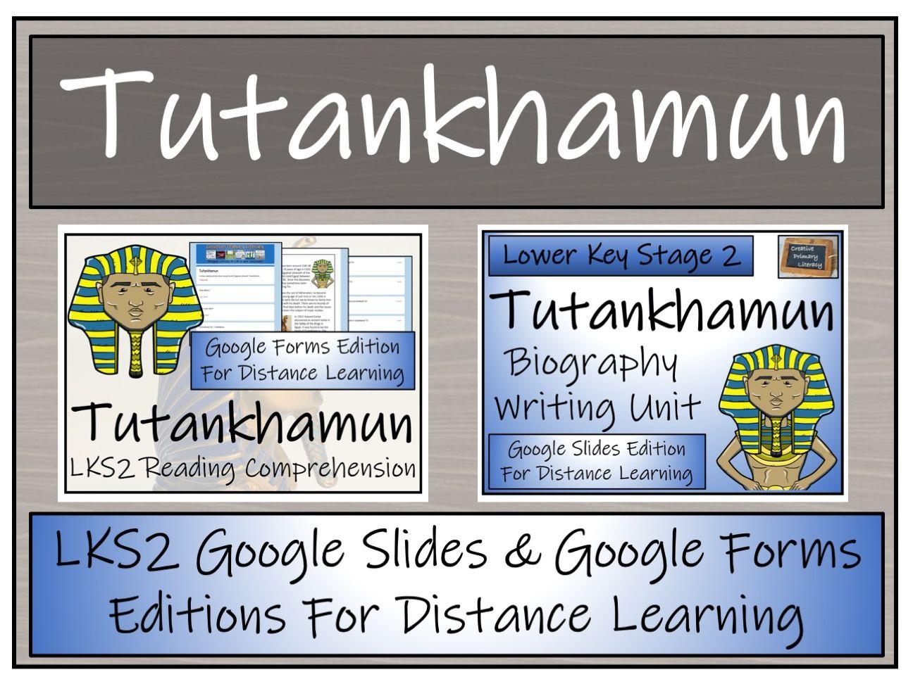 LKS2 Tutankhamun Biography & Reading Comprehension Distance Learning Bundle