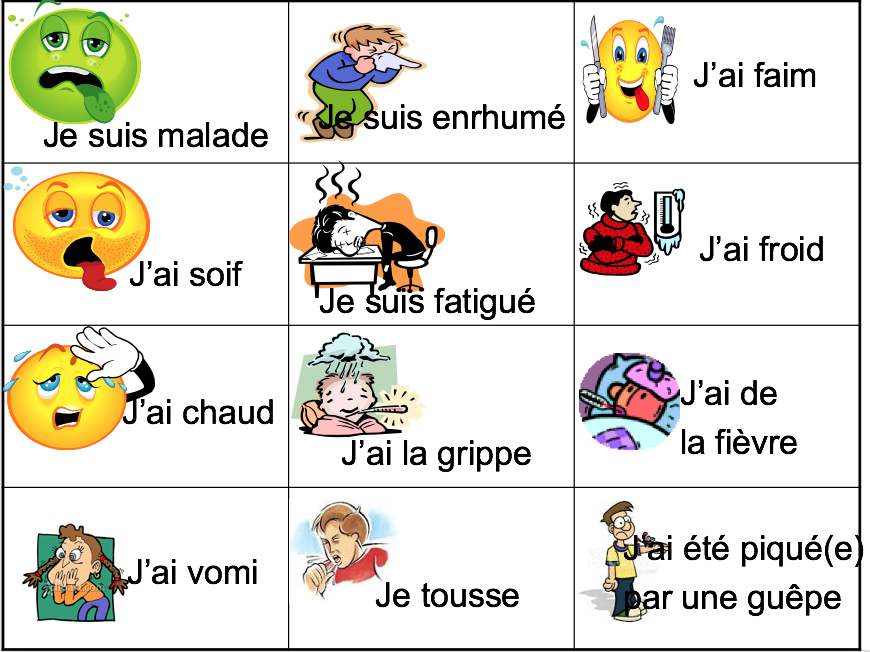 Illness: avoir / être expressions - Expo 3 Module 3 - Differentiated lesson