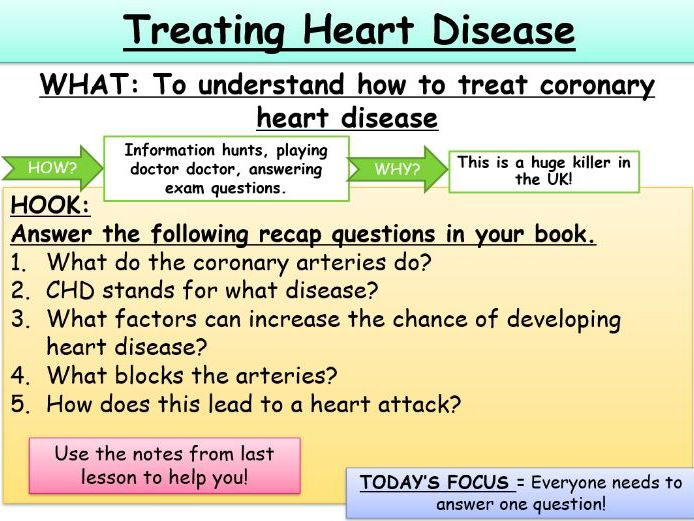 Treating Heart Disease KS4 AQA Biology