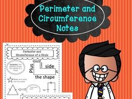 Perimeter + Circumference - Notes, Doodle, and Organise