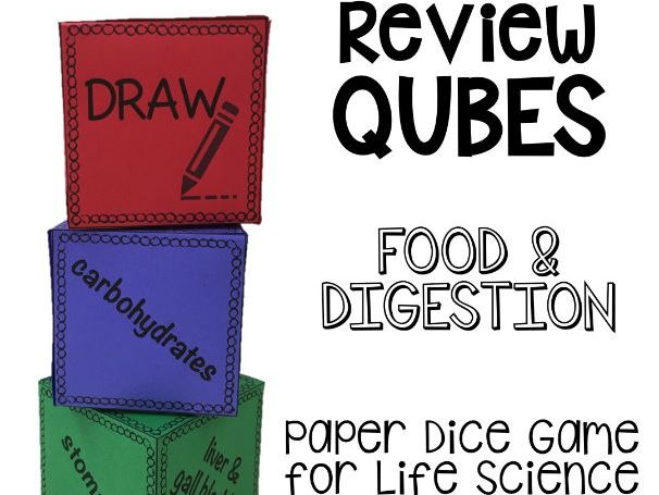 Food and Digestion REVIEW QUBES for Life Science