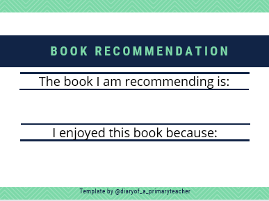 'Recommend a Book' Slips