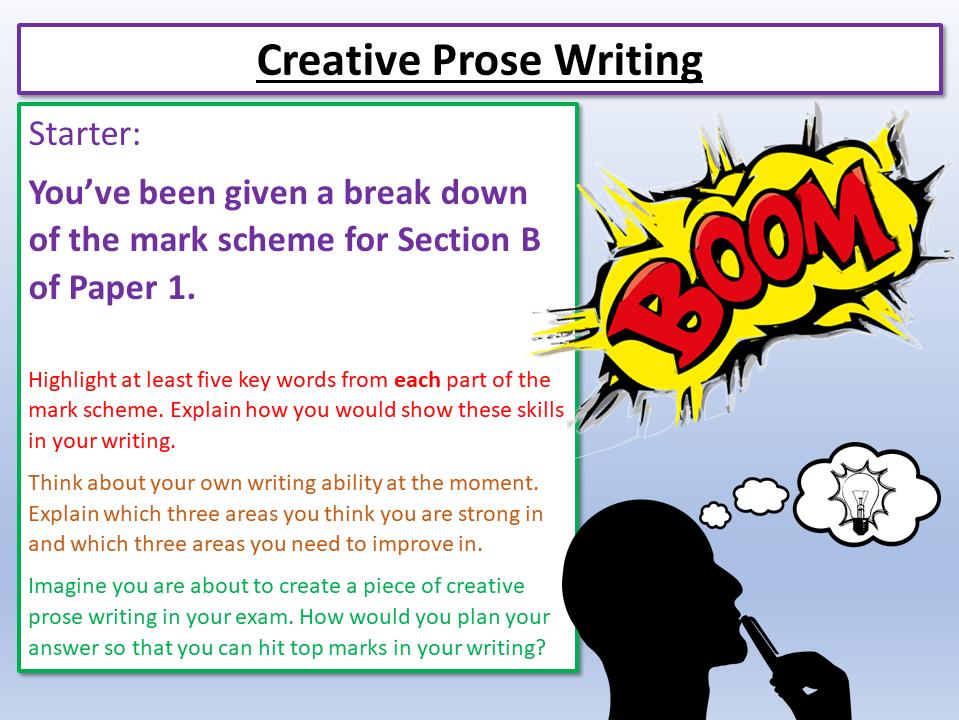 Eduqas English Creative Prose Writing