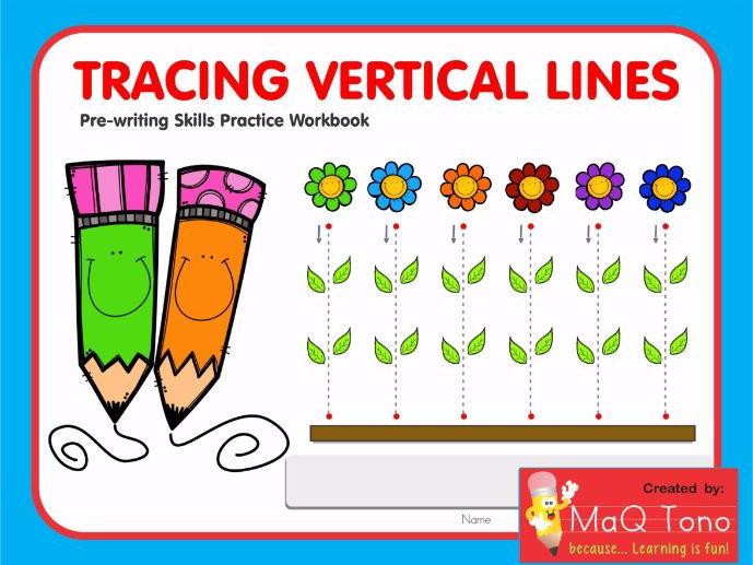 Tracing Vertical Lines Workbook
