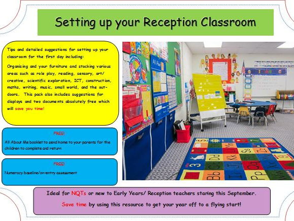 Early Years Classroom Design (resources for EYFS continuous provision)
