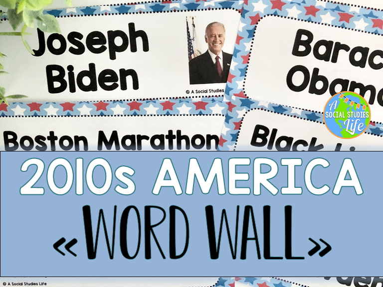 2010s America Word Wall without definitions