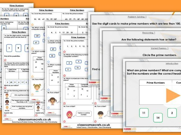 Year 5 Prime Numbers Autumn Block 4 Step 4 Lesson Pack