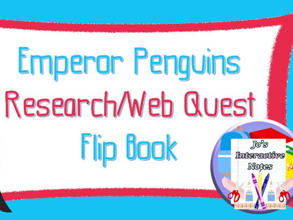 FREEBIE Penguin Awareness Day (January 20th) Research Flip Book