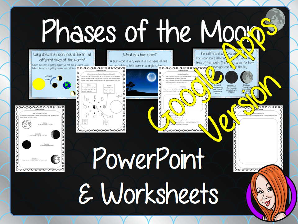 Distance Learning Phases of the Moon Google Slides Lesson