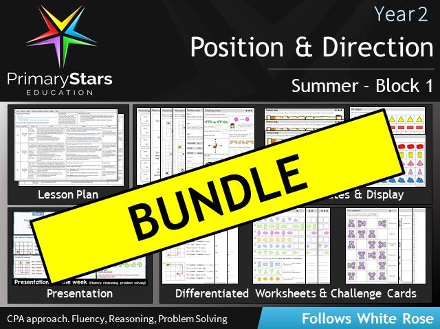 YEAR 2 - Position and direction - White Rose - COMPLETE Block 1 - Summer BUNDLE