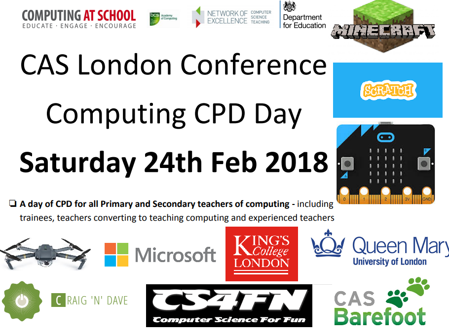 Computing Conference! 24th February 2018 with Ofsted! For anyone who teaches computing!