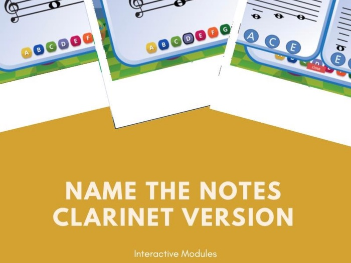 Name the Notes Clarinet Version Digital Interactive Resource
