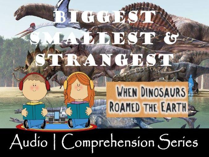Dinosaur Biology | Distance Learning | Audio & Comprehension Worksheets