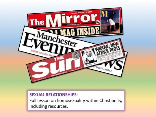 RE - Sexual Relationships - Homosexuality in Christianity