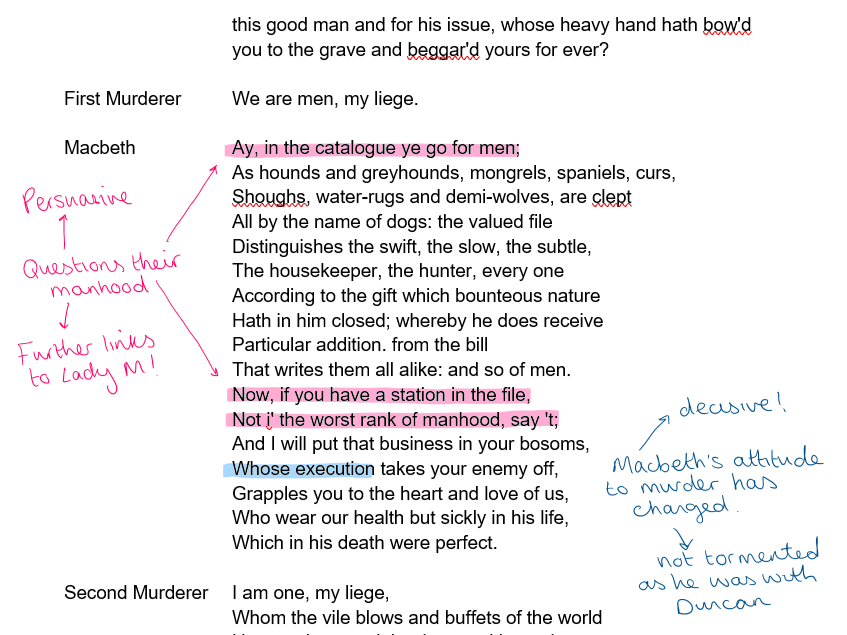 Macbeth Act 3 Annotations