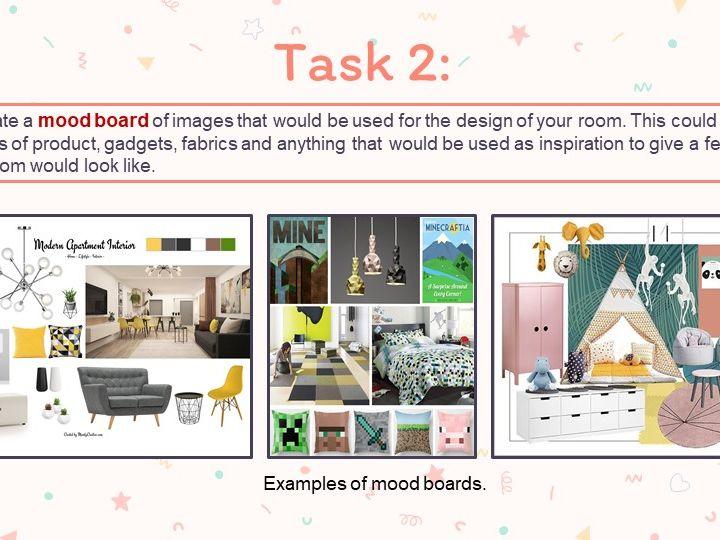Interior design home learning task